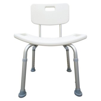 Aluminum Waterproof Rust Free Bath Shower Chair with Adjustable Backrest and Height (White) Price Philippines