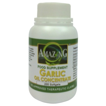 Amazing Food Supplement Garlic Concentrated Oil Softgels Bottle of200