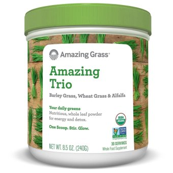 Amazing Grass Amazing Trio (Alfalfa, Barley & Wheat Grass) 30Servings, 8.5 Ounces