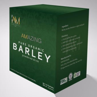 Amazing Pure Organic Barley Powdered Drink Box of 2