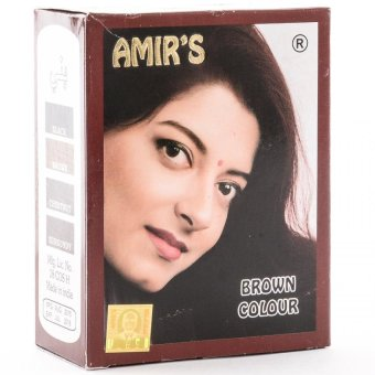 Amir's Brown Hair Colour with Henna - 6 pouches 10g each
