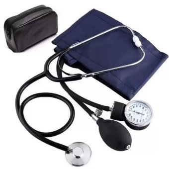 Aneroid Sphygmomanometer Blood Pressure Measure Device Kit Cuff Stethoscope