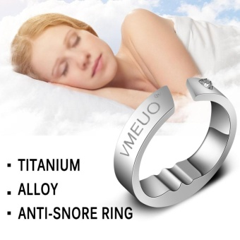 Anti Snoring Ring Stopper Sleeping Breath Aid Acupressure TreatmentStop Snore Device M - intl