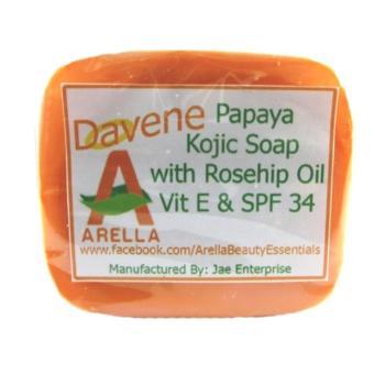 Arella Organic Davene Papaya Kojic Facial & Body Soap - 2