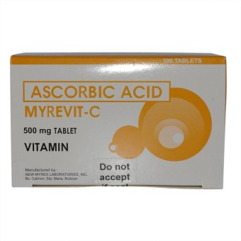 Ascorbic Acid Myrevit C Vitamin C 500mg Tablet Box of 100