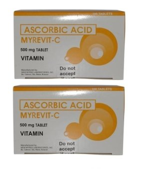 Ascorbic Acid Myrevit C Vitamin C 500mg Tablet Box of 100 Set of 2 Price Philippines