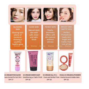 Ashley Shine CC Cream Pink Glow NATURAL Shade #3 SPF37 Matte FinishBB CC Cream Liquid Foundation Single - 4