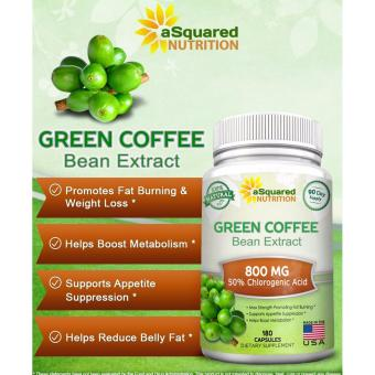 aSquared Nutrition 100% Pure Green Coffee Bean Extract, 180capsules, 90-day Supply - 2