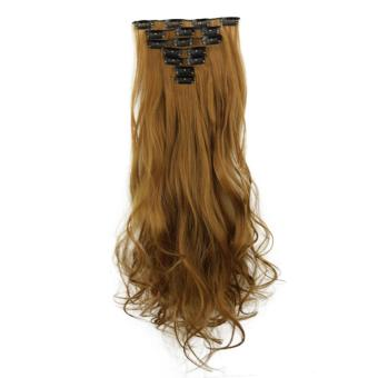 Astar Top Sale 16 Card Curled Straight Chemical Fiber HairExtension Wig - intl ( Type 5 ) Price Philippines