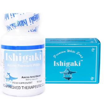 Authentic BFAD-FDA Approved Japan Ishigaki PREMIUM L-Glutathione1000mg Whitening Anti-aging, NAC N-acetyl cysteine, alpha-Lipoic 30capsules with Ishigaki Premium Whitening Soap