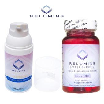 Authentic Relumins Advance Nutrition Gluta 1000 L-GlutathioneComplex Skin-Whitening Anti-aging Skin Brightening 30 VegetarianCapsules with TA Stem Cell Premium make-up base Whitening Cream Price Philippines