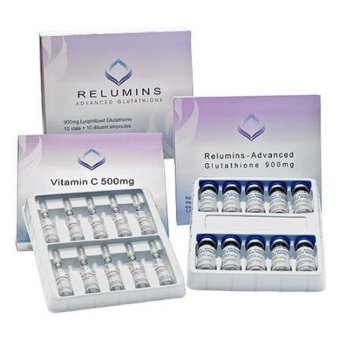 AUTHENTIC Relumins IV Glutathione 1400mg 10 VIALS + FREE 10 COMPLETE MATERIALS for injection Skin Whitening Anti-aging Price Philippines