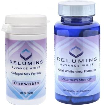 Authentic Relumins Oral Glutathione placenta Whitening Anti-aging60 capsules & Collagen 30 tablets SET