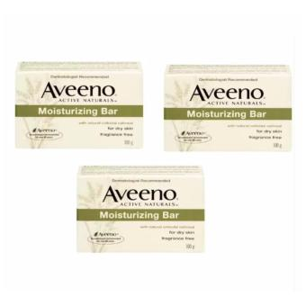 Aveeno Active Naturals Moisturizing Bar 100g Pack of 3's