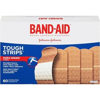 Band-Aid Brand Tough-Strips Adhesive Bandages 60 Count
