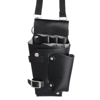 Barber Holster PU Leather Pouch Holder Rivet Hair Scissor BagsClips Waist Shoulder Belt - intl