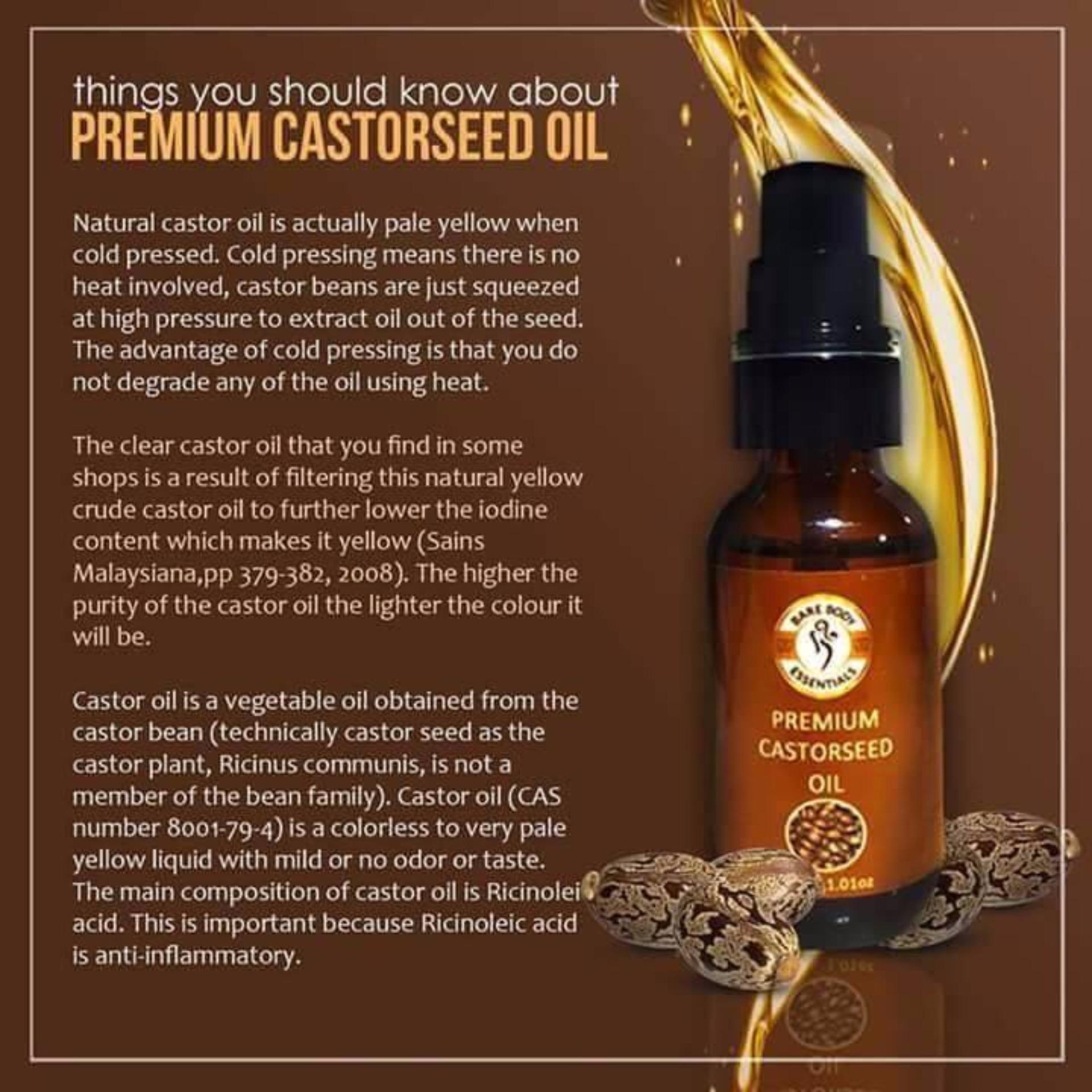 Bare Body Essentials Premium Castor Seed Oil 30ml Bundle of 2