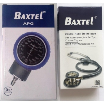 Baxtel Aneroid Sphygmomanometer Set in Blue APG Advance ProtectionGuard with Dual-Head Stethoscope