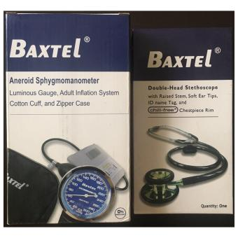 Baxtel Aneroid Sphygmomanometer Set with Double-Head Stethoscope