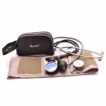 BAXTEL Aneroid Sphygmomanometer Set with Double- Head Stethoscope