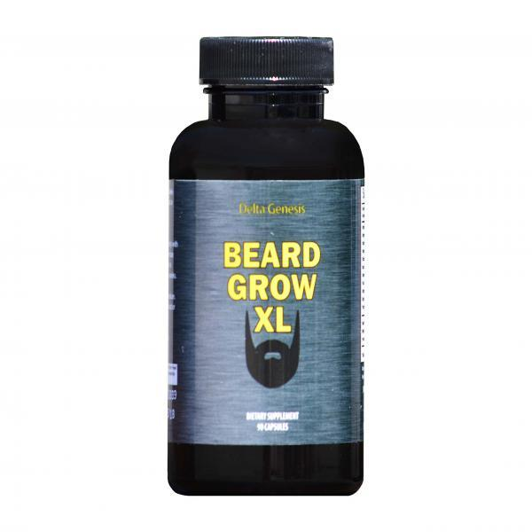 Beard Grow XL - Facial Hair Supplement - Mens Hair Growth Vitamins