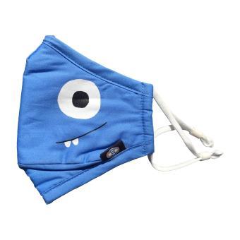 BEATCLOUDS Kids N95 PM 2.5 Anti Pollution Cotton Face Mask - Blue - 2