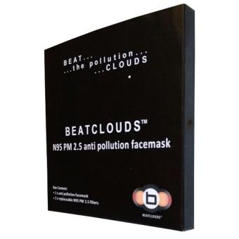 BEATCLOUDS Kids N95 PM 2.5 Anti Pollution Cotton Face Mask - Blue - 3