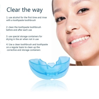 Beau Blue Silicone Environmental Dental Orthodontic Teeth Braces Tooth Retainer - intl - 2