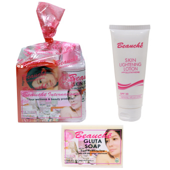 Beauche Beauty Pack Set with 1 Lightening Lotion 100 ml and 1 GlutaSoap 90 gms