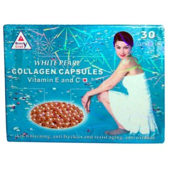 Beauty Girl White Pearl Collagen Skin Capsules Box of 30