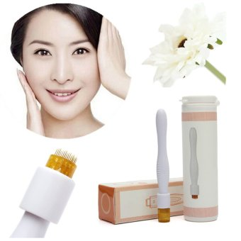 Beauty Lady 40 Micro Needles Wand Derma Roller Pen Stamp Skin Therapy Care Cure - intl