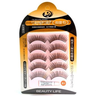 Beauty Life False Eyelashes with Eyelash Glue #B1 (Black)