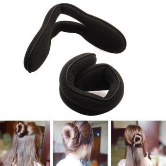 Beauty Magic Sponge Clip Foam Bun Curler Twist Hair Styling Maker Tool - intl