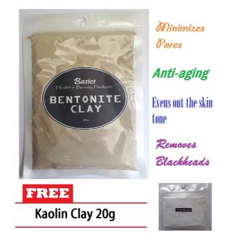 Bentonite Clay 100g w/ FREE Kaolin Clay 20g