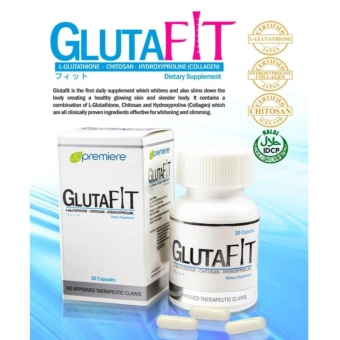 BEST SELLER! AUTHENTIC JC Premiere GlutaFit Whitening &Slimming 30 Capsules Dietary Supplement