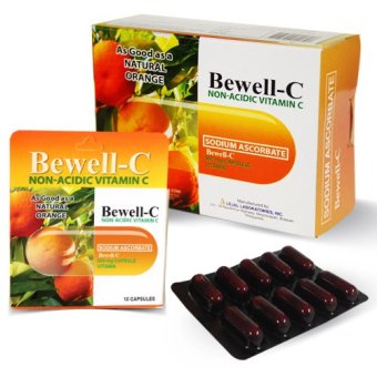 Bewell-C Non- Acidic Vitamin C supplement 500mg Capsules Box of 100 capsules Price Philippines