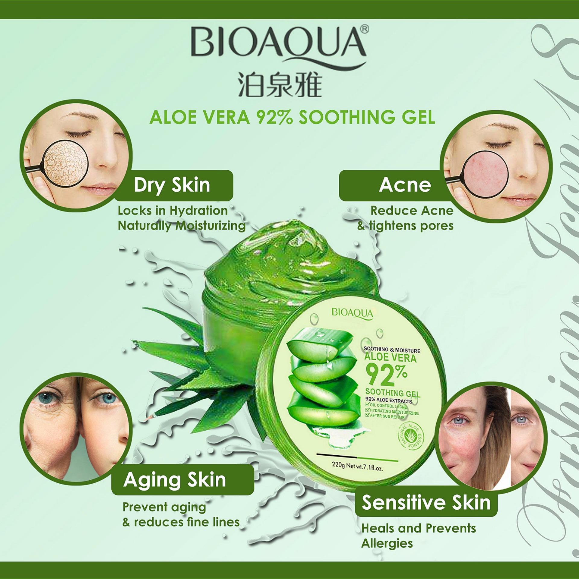 Philippines Bioaqua Soothing Moisturizing Aloe Vera 92 Gel 160ml