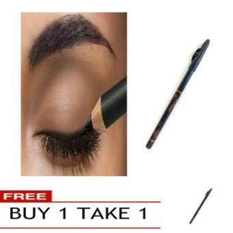 Biya Extra Waterproof Soft & Long Lasting Makeup Eyeliner Pencil (Black) Buy 1 Take 1