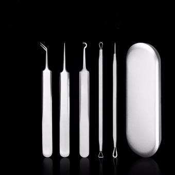 Blackhead and Acne Extractor Set with Case (Curved Tweezer, ZitPopper) Price Philippines