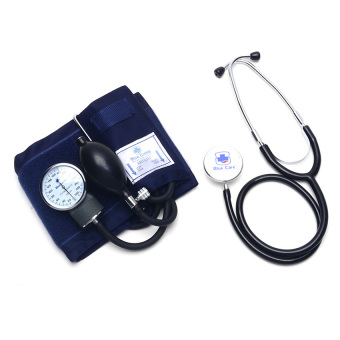 Blue Cross Heart Mate Aneroid Sphygmomanometer Set with StethoscopeBlood Pressure Monitor (Black)