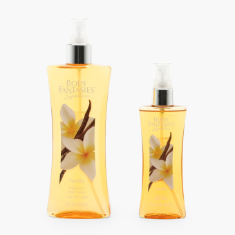 Body Fantasies Signature Vanilla Fragrance Body Spray (Set of 2)
