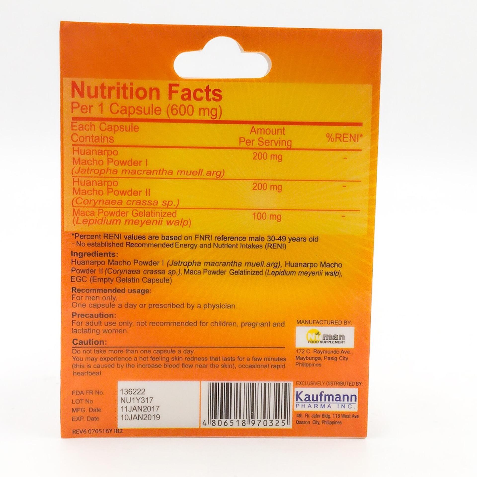 Bravo Food Supplement For men 2 Capsules