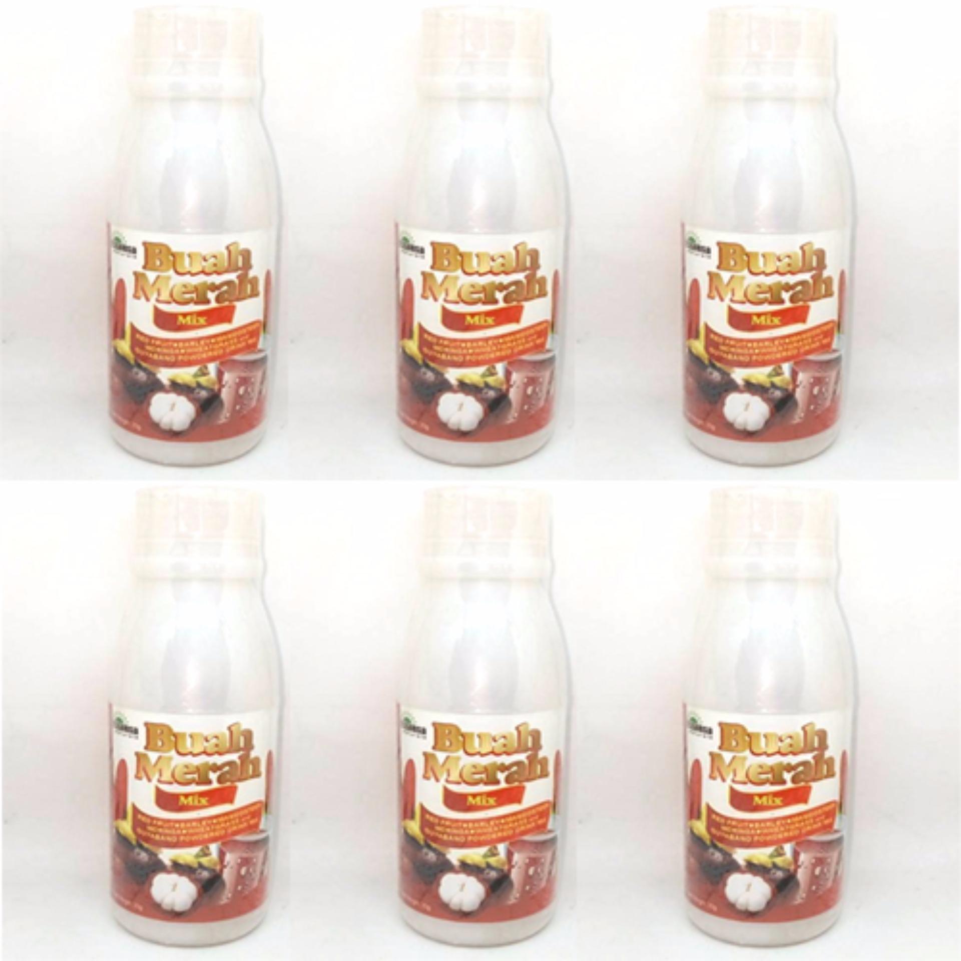Buah Merah Mix 100% Organic Herbal Powdered Juice Drink Set of 6