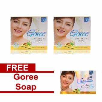 Bundle of 2 Goree Beauty Cream Anti-aging Whitening 30g Free GoreeSoap