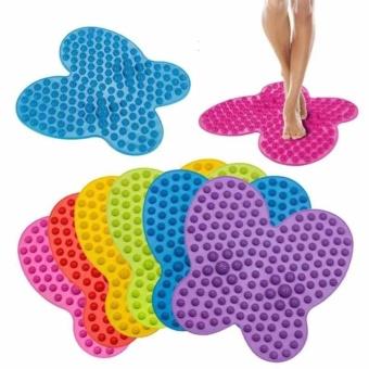 BUTTERFLY FUTZUKI REFLEXOLOGY FOOT RELIEF MAT(BLUE/GREEN/PINK/VIOLET)