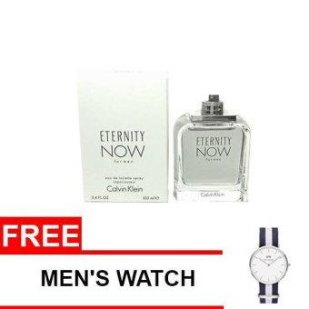 Calvin Klein Eternity Now Eau de Toilette for Men 100ml (Tester) with Free Men's Watch