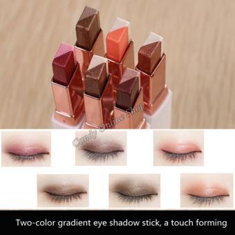 Candy Online Korea NOVO Double Color Gradient Velvet Eye Shadow Make Up Eye Liner Pen #1 - 4