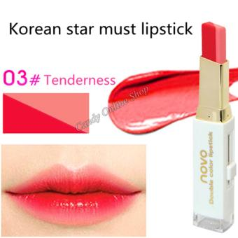 Candy Online Korea NOVO Double Color Lipstick Makeup Moisturizing Color Gradient Lipstick #3