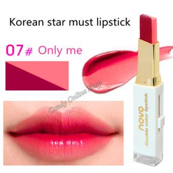 Candy Online Korea NOVO Double Color Lipstick Makeup Moisturizing Color Gradient Lipstick #7