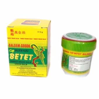 CAP BETET Parrot Green Balm 17.5 grams (MOST EFFECTIVE PAINRELIEVER) Price Philippines
